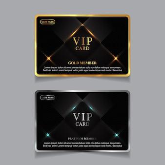 Luxus golden und platin vip-mitgliedskarte design-vorlage