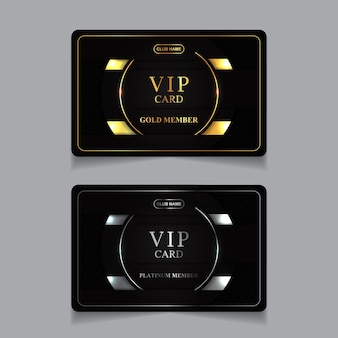 Luxus golden und platin vip mitgliedskarte design-vorlage