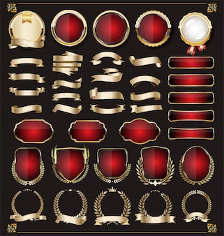 Luxus goldene design-elemente
