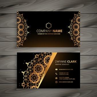 Luxus goldene ornament visitenkarte