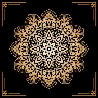 Luxus goldenen mandala-bildschirmschoner