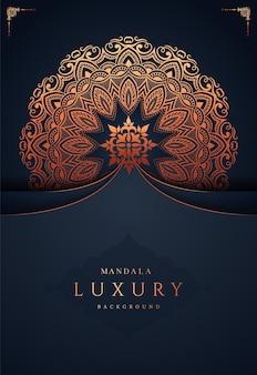 Luxus goldener mandala hintergrund premium-vektor