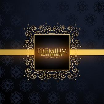 Luxus goldener rahmen mit textraum