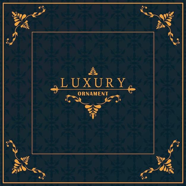 Luxus goldener rahmen victorian im schwarzen hintergrund
