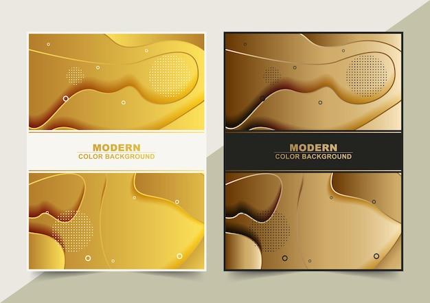 Luxus-goldlinie abstrakte wellenabdeckung