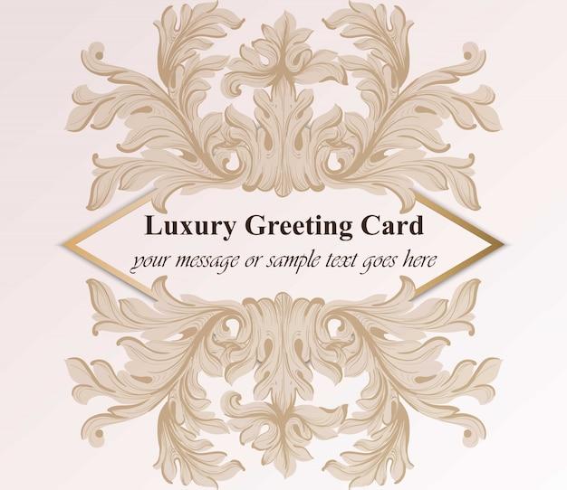Luxus-grußkarte mit barocken ornament