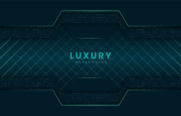 Luxus-hintergrund in dunkelgrün