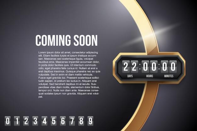 Luxus-hintergrund in kürze und countdown-timer. .