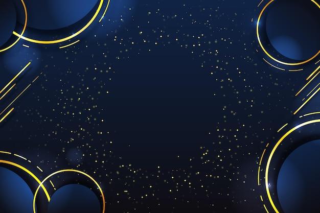 Luxus-hintergrund mit farbverlauf mit goldenen details