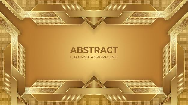 Luxus-hintergrunddesign des goldenen farbverlaufs mit geometrischen formen