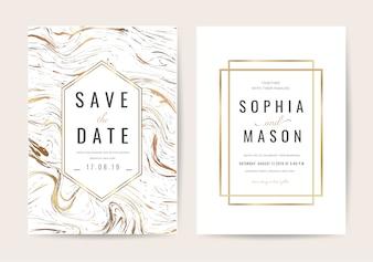 Luxus Hochzeitseinladungskarte