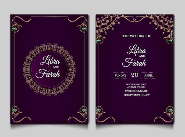 Luxus hochzeitseinladungskarten gesetzt