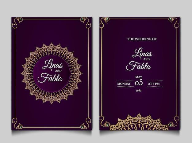 Luxus hochzeitseinladungskarten stil monoline