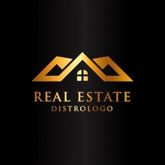 Luxus-immobilien-logo-vorlage