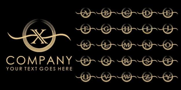 Luxus-initiale abzeichen-logo