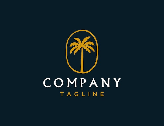 Luxus-kokosbaum-logo-vorlage