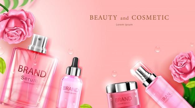 Luxus kosmetikflasche paket hautpflegecreme