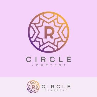 Luxus kreis anfangsbuchstabe r logo design
