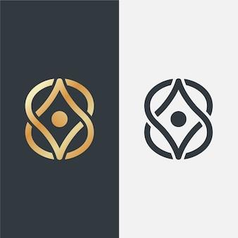 Luxus-logo in verschiedenen versionen