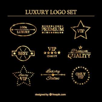 Luxus-logo satz