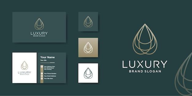 Luxus-logo-schablone mit kreativer schönheitslinie kunstart premium-vektor