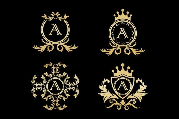 Luxus-logo, vorlage,