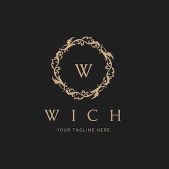 Luxus-logo. wappen logo logo-design für hotel, resort, restaurant, immobilien, spa, fashion brand identity