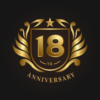 Luxus-logo zum 18. jahrestag