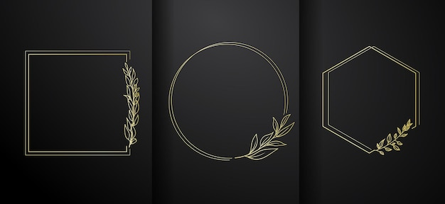 Luxus-logorahmen-kollektion