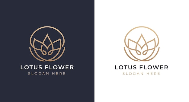 Luxus lotus logo design