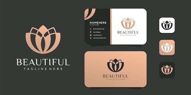 Luxus lotusblume logo vorlage.
