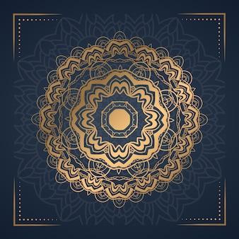Luxus mandala abstrakten hintergrund