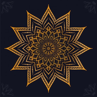 Luxus-mandala-arabesken-zierhintergrund