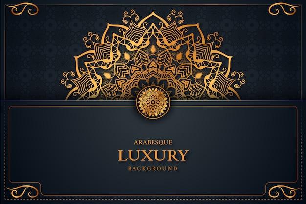 Luxus mandala arabesque hintergrund schön