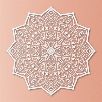Luxus mandala auf lachs hintergrund