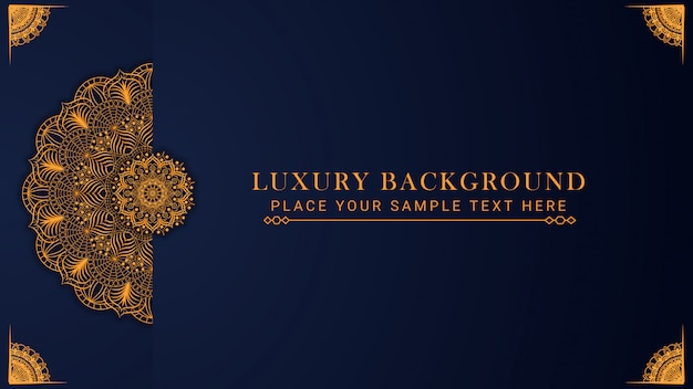Luxus-mandala background design mit goldener musterostart