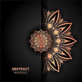 Luxus-mandala-design-vorlage mit goldener farbe