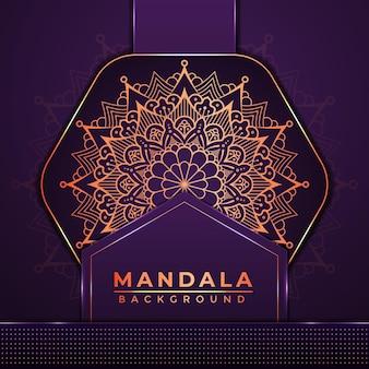 Luxus-mandala-hintergrund-design mit goldener farbe arabisch-islamischer stil-dekoration