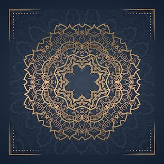 Luxus-mandala-hintergrund für buchcover