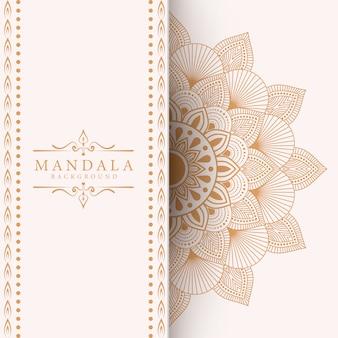Luxus-mandala-hintergrund für buchumschlag-hochzeitseinladung