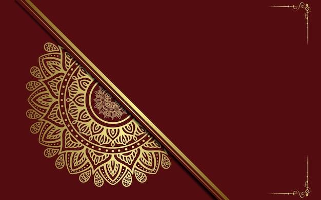 Luxus-mandala-hintergrund für buchumschlag