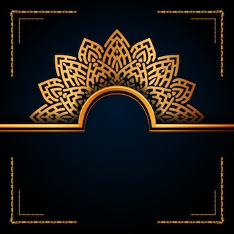 Luxus-mandala-hintergrund für hochzeitseinladung, buchumschlag usw.
