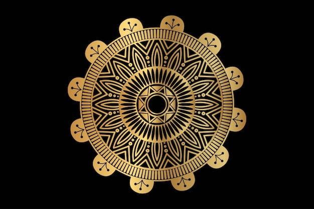 Luxus-mandala-hintergrund mit arabischem islamischen oststil des goldenen arabeskenmusters