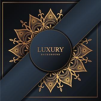 Luxus-mandala-hintergrund mit goldenem arabeskenmuster arabischer islamischer oststil