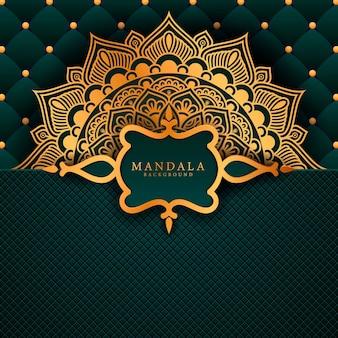Luxus-mandala-hintergrund mit goldenem arabeskenmuster