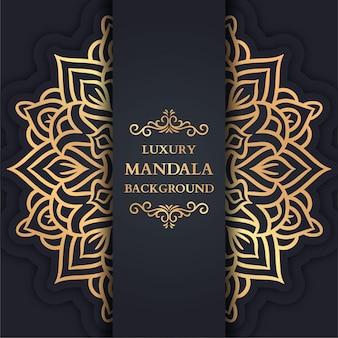 Luxus-mandala-hintergrund mit goldener arabeske, dekorativem mandala, luxus-verzierungs-vorlage