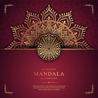 Luxus-mandala-hintergrund mit goldener arabeske