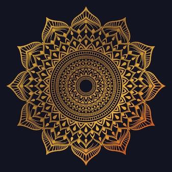 Luxus-mandala-hintergrund mit goldener arabeskendekoration im arabischen islamischen oststil