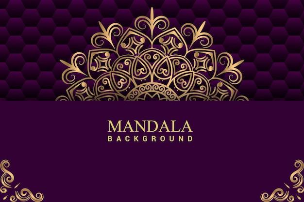Luxus mandala hintergrund mit goldener farbe premium-vektor