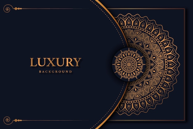Luxus-mandala-hintergrund mit schöner goldener arabeske